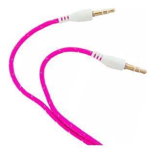 Cable Miniplug 3.5mm Reforzado Estereo Macho 1 Metro Colores