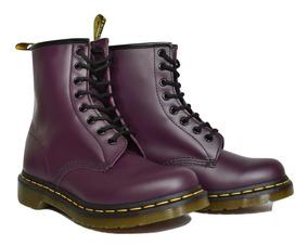 Dr Martens Botas Mujer 1460 Purple Smooth Fabiuluzz