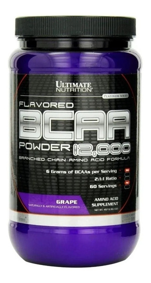 Bcaa 12000 Powder X 457 Gr Ultimate Nutrition Aminoacidos