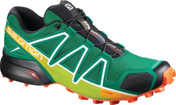 Zapatilla Masculina Salomon - Speedcross 4 Verde/amarillo -