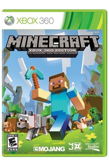 Minecraft Xbox 360 Original Mídia Física