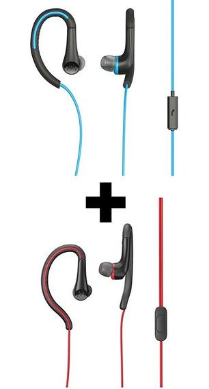 Kit 2 Fones Earbuds Sport Headphones Autorizada Motorola