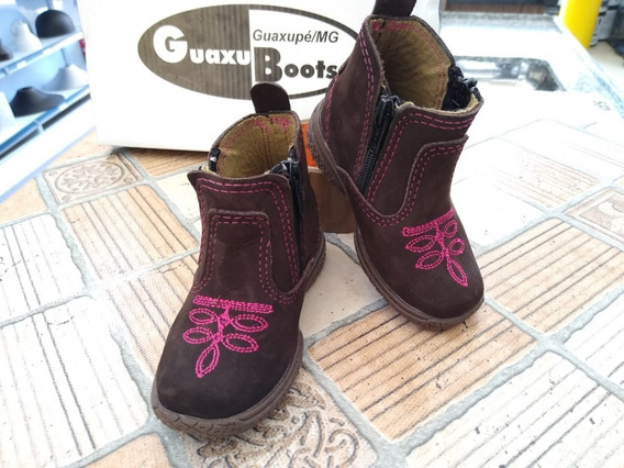 Calçado Infantil Botinha Bota Botina Kids Unissex - Nobuck