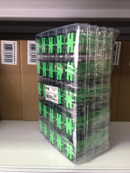Acoplador Passante Sm Sc Apc Verde Homologado Anatel 250pçs