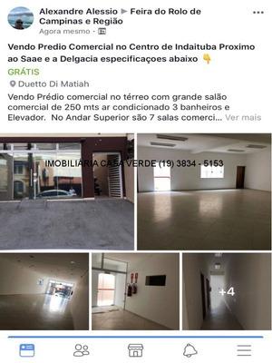 Predio A Venda Em Indaiatuba, Aluguel De Predio Em Indaiatuba, No Centro. - Pr00011 - 1171043