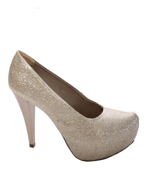 Sapato Meia Pata Lumicolor Cobre Hellen Suzan