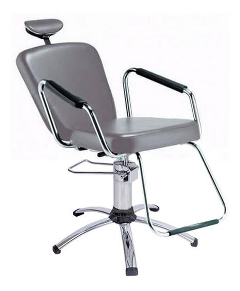 Cadeira Maquiagem Reclinável, Base Cromada - Nix Dompel