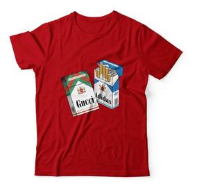 Camisa Camiseta Cigarro Smoking Weed Gucci Hype Swag Algodão