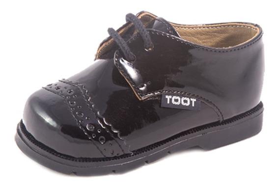 Zapato Acordonado Toot Charol Cortejo Bautismo 16 Al 21milo