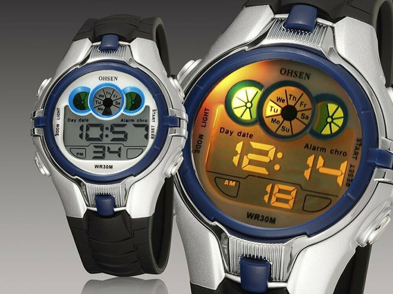 Relógio Infantil Original M/ Ohsen Modelo 0739 Prova D