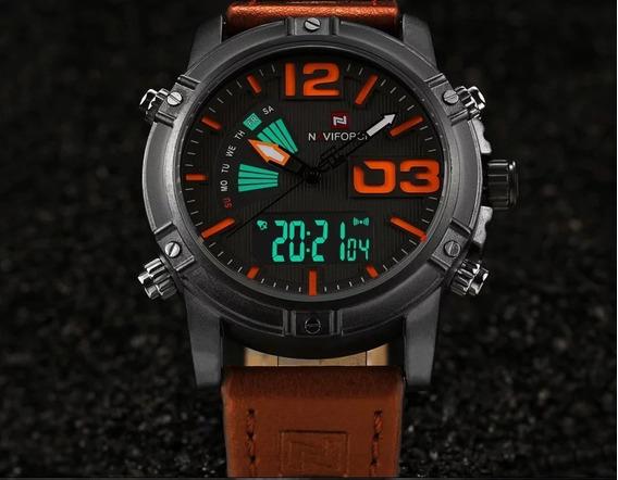 Relógio Masculino Esportivo Naviforce 9095 Alta Qualidade