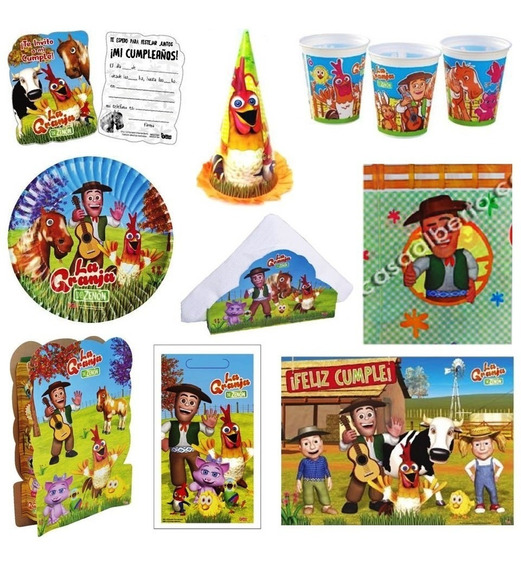 Kit Cotillon La Granja De Zenon 30 Chicos Mantel Vaso Piñata