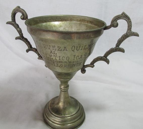 Antiguo Trofeo Club Atlético Icaño,cerveceria Quilmes #l