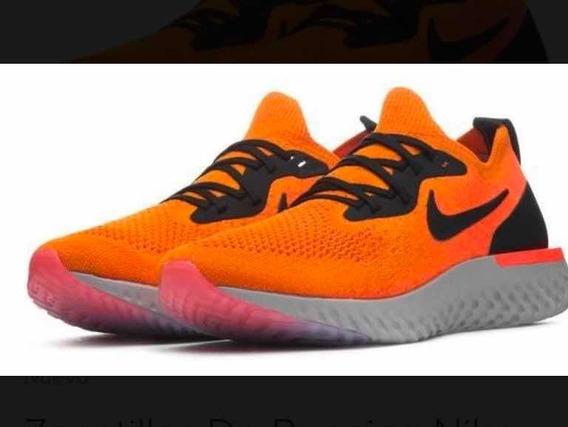 Zapatillas Nike Epic React Flyknit Naranjas Nuevas