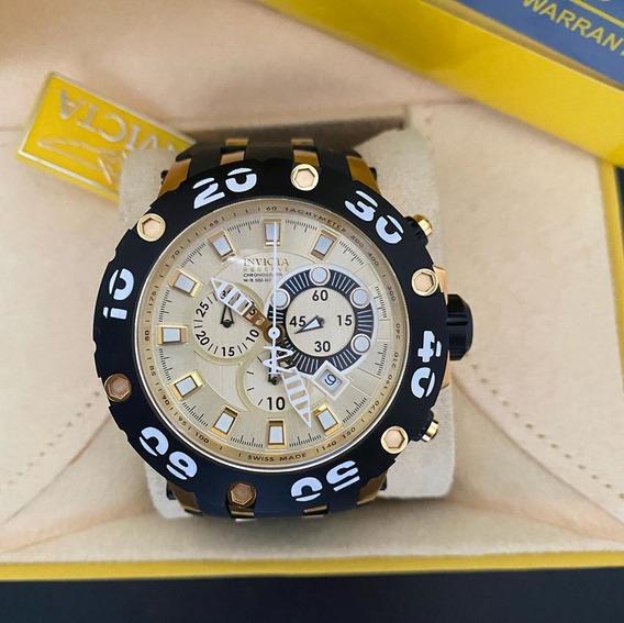 Relógio Invicta Reserve 0916 Dourado/ Preto Lançamento