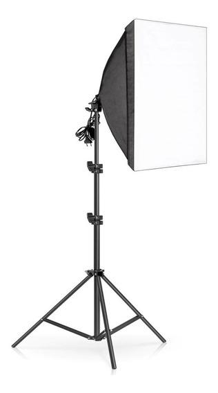 Softbox Caja De Luz Difusora 50x70cm Iluminación + Paral 2m