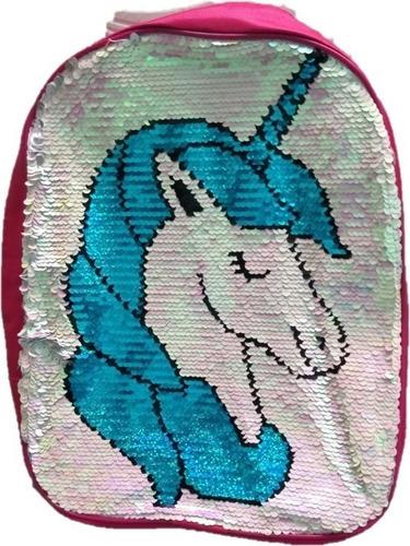Mochila Unicornio Llama Lentejuelas Tela Peluche   Cuot