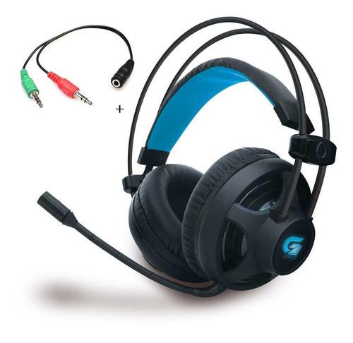 Headset Fone Gamer Pro H2 Fortrek +adaptador P2 Ps4 Xbox Pc
