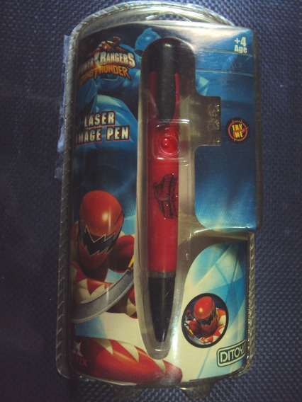 Caneta A Laser Lanterna Power Rangers + 4 Pilhas De Brinde