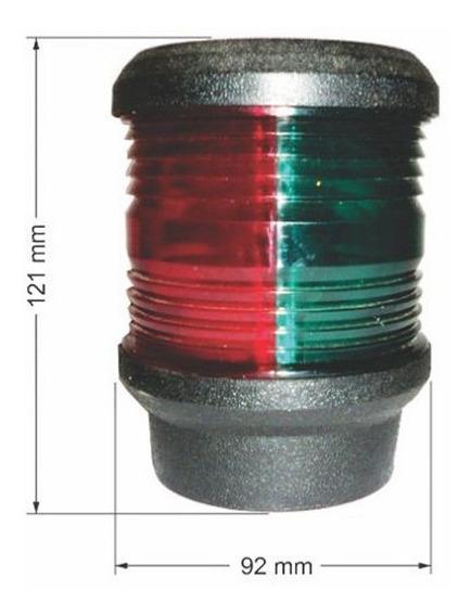 Luz De Navegação Popa Top Alcançado Bicolor Bb Be 8049