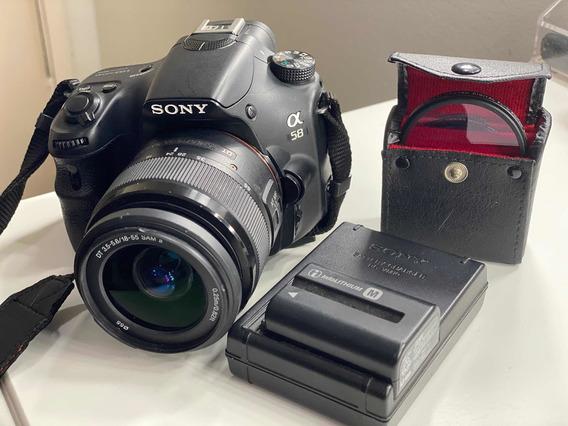 Câmera Sony Semi Profissional+lente Sal18552+conj De Lentes