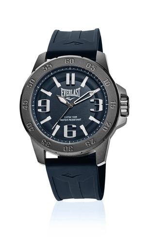 Relógio Pulso Everlast Masculino Esporte Silicone Preto E699