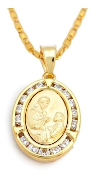 Medalla De Oro Laminado 14 K Primera Comunión Incluye Cadena