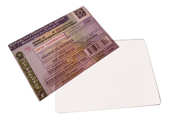 Protetor Documento De Carro Dut Em Acrilico 12 Und