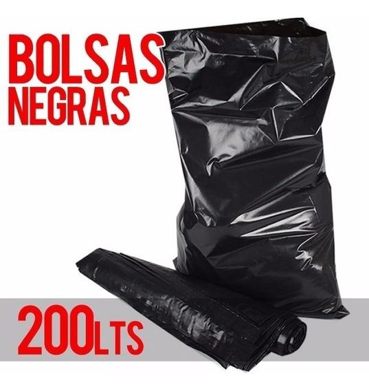 Bolsas Negras Para Basura 40 Kg, 200 Litros, 50 Unidades