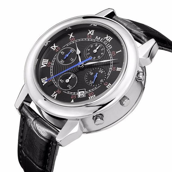 Reloj Cronografo Megir Modelo 2013syn - Original
