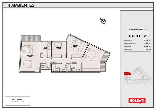 Palmera Crespo.venta.departamento. 4 Ambientes. Villa Crespo