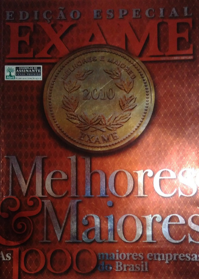 Revista Exame Melhores E Maiores 2010
