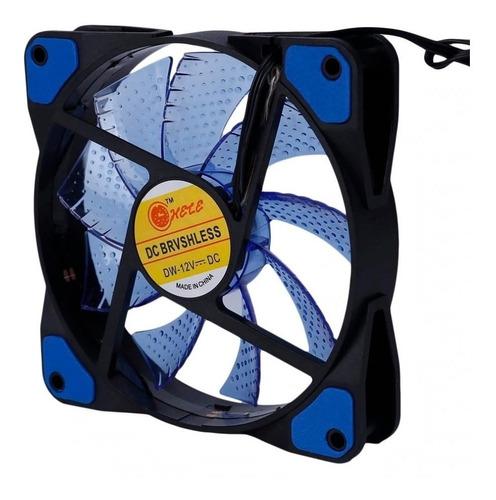 Fan Cooler Ventilador 12cm 12x12 Led Colores Pc Case Mdj