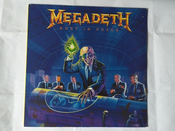 Lp Megadeth - Rust In Peace C/encart Nacional Estado De Novo