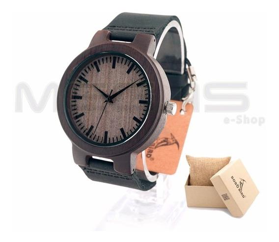 Relógio De Bambu Bobo Bird - Pronta Entrega - Original