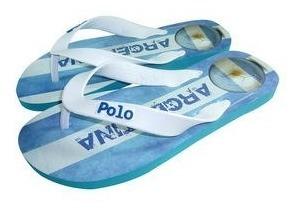 Polo Shoes Chinelo Branco & Azul Claro 41-42 Promoção Top