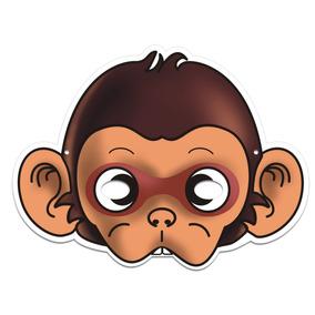 aa47812a0ab7aa Máscara Macaco Colorido Com Impresso - 01 Unidade