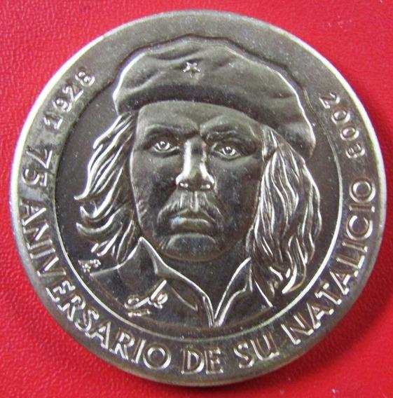 Cuba Moneda 1 Peso 2003 Unc 75 Aniv Natalicio Che Guevara