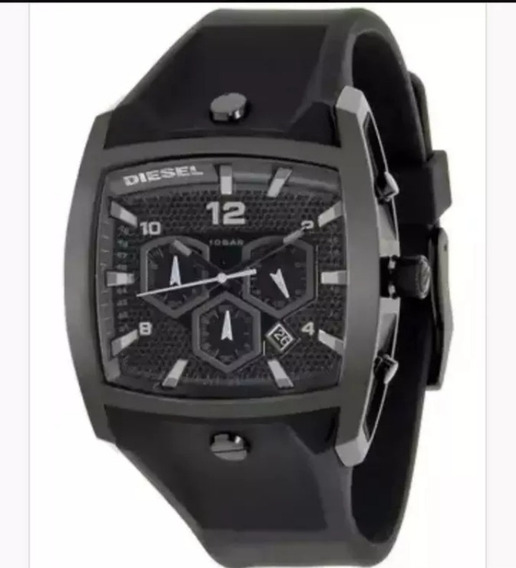 Relógio Esportivo Diesel Cronógrafo Black Dz4196 Original