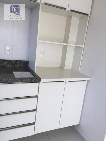 Apartamento Com 1 Dormitório Para Alugar, 54 M² Por R$ 1.100,00/mês - Vila Alto De Santo André - Santo André/sp - Ap10635