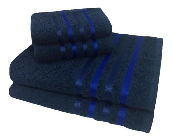 Jogo De Banho 4 Peças Kit De Toalha Jogo De Toalha Azul