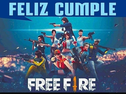 Kit Cumpleaños Fiesta Free Fire Deco Suministros Piñata X 12