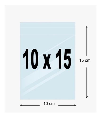 Bolsa Celofán Sin Adhesivo 10x15 Cms 100 Unds.