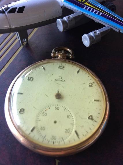Relógio Omega Plaq. 18k De Coleção (restauro) 042