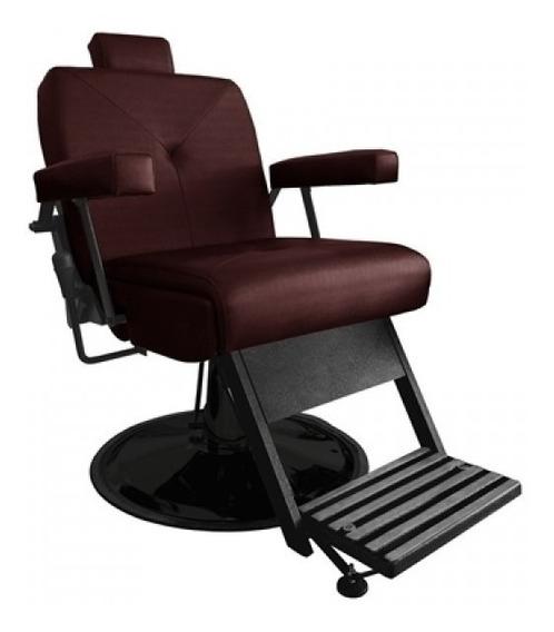 Cadeira De Barbeiro Reclinável Milão Base Cromada Marri