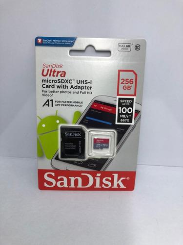 Memoria Micro Sd 256gb Sandisk Clase 10 A1