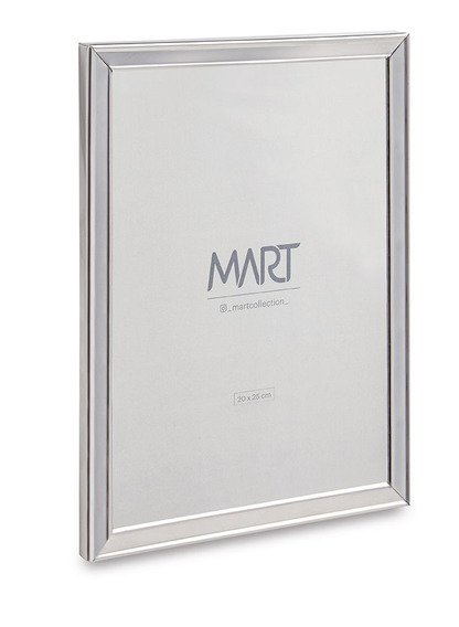 Porta Retrato Prata Em Metal 20x25 Cm 11261 Mart