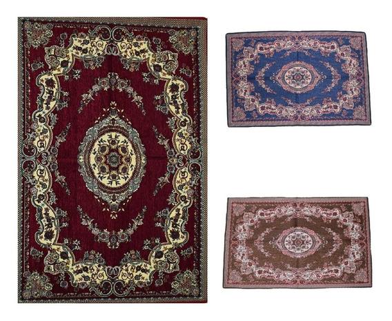 Tapete Persa Herat 100x150 Clássico Emborrachado Decoração