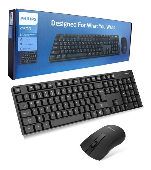Kit Teclado E Mouse Sem Fio Wireless 2.4ghz Multimídia Pc