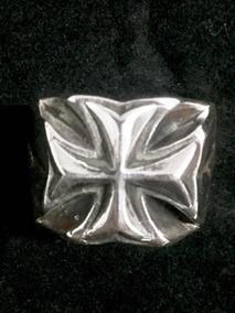 Anel Cruz De Malta Em Prata 950